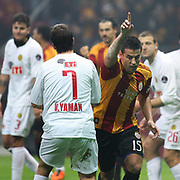 Galatasaray's Milan BAROS (R) celebrate his goal during their Turkish Super League soccer match Galatasaray between Eskisehirspor at the Turk Telekom Arena at Seyrantepe in Istanbul Turkey on Sunday, 06 February 2011. Photo by TURKPIX