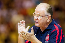 Dusan Ivkovic, head coach of Serbia during friendly match between National teams of Slovenia and Serbia for Eurobasket 2013 on August 3, 2013 in Arena Zlatorog, Celje, Slovenia. (Photo by Vid Ponikvar / Sportida.com)