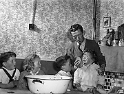 Mr and Mrs Courage and Family (twins) at Ballyfermot Crescent, Dublin City .12/10/1958