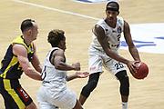 Basketball: Deutschland, 1. Bundesliga, Hamburg Towers -  EWE Baskets Oldenburg, Hamburg, 14.04.2021<br /> Terry Allen (Towers, r.)<br /> © Torsten Helmke