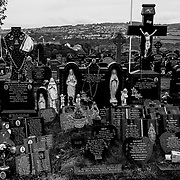 """Derry City Cemetery where a number of the most prominent figures during the time of the """"Troubles"""" are buried. Northern Ireland, September 2019"""