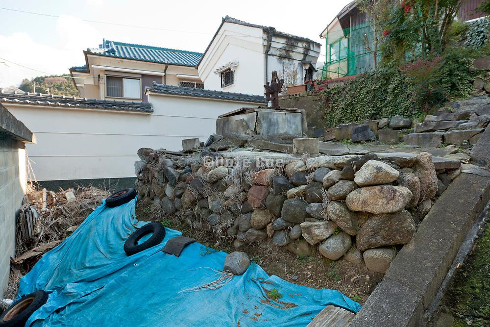 old public water pump grounds Sakurai city near Nara Japan