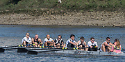 Mortlake/Chiswick, GREATER LONDON. United Kingdom. Molesey vets, <br /> Molesey Boat Club, competing in the 2017 Vesta Veterans Head of the River Race, The Championship Course, Putney to Mortlake on the River Thames.<br /> <br /> <br /> Sunday  26/03/2017<br /> <br /> [Mandatory Credit; Peter SPURRIER/Intersport Images]
