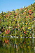 Reflections on Heart Lake in Lake Placid.