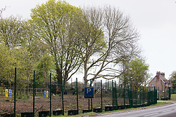 Wendover, UK. 4th May, 2021. A view of trees alongside the A413. Large areas of land are currently being cleared of trees and vegetation around Wendover in the Chilterns AONB in preparation for the HS2 high-speed rail link, with some work recently taking place after dark.