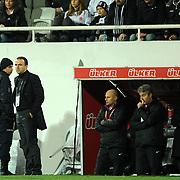 IBBSpor's coach Arif Erdem (2ndL) during their Turkish superleague soccer match Besiktas between IBBSpor at BJK Inonu Stadium in Istanbul Turkey on Sunday, 11 December 2011. Photo by TURKPIX