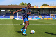AFC Wimbledon defender Paul Osew (37) warming up during the EFL Sky Bet League 1 match between AFC Wimbledon and Shrewsbury Town at the Cherry Red Records Stadium, Kingston, England on 14 September 2019.