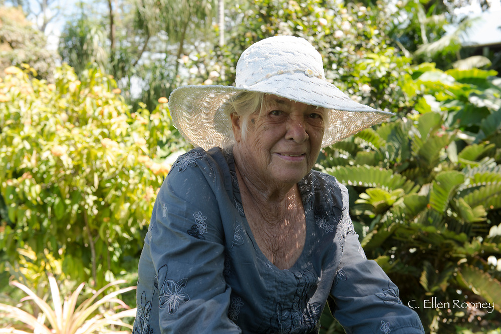 Jean Renwick, owner and creator of the Sunnyside Garden, St. George's, Grenada, West Indies, Caribbean