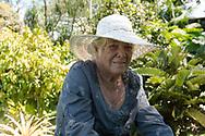 Jean Renwick, owner and creator of the Sunnyside Garden, St. George's, Grenada, West Indies, Caribbean