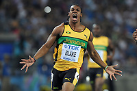 ATHLETICS - IAAF WORLD CHAMPIONSHIPS 2011 - DAEGU (KOR) - DAY 2 - 28/08/2011 - MEN 100M FINAL - YOHAN BLAKE (JAM) / WINNER - PHOTO : FRANCK FAUGERE / KMSP / DPPI