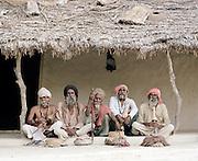 Portrait of Snake Charmers at Gandhi Nager, Lucknow, Uttar Pradesh, India