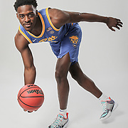 Pitt guard Xavier Johnson was an All-ACC Freshmen team selection and the only player in the league to average at least 15 points and 4.5 assists per game. When he's not on the court, he loves to go bowling. Photographed for ESPN in Charlotte. ©Travis Bell Photography