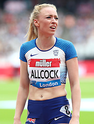 July 22, 2018 - London, United Kingdom - Amy Allcock of Great Britain after  the 400m Women race.during the Muller Anniversary Games IAAF Diamond League Day Two at The London Stadium on July 22, 2018 in London, England. (Credit Image: © Action Foto Sport/NurPhoto via ZUMA Press)