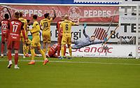 Fotball , 8. juli 2018 , Eliteserien , Bodø/Glimt - Brann<br /> Sivert Nilsen , Brann scorer mål