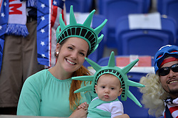 September 1, 2017 - Harrison, NJ, USA - Harrison, N.J. - Friday September 01, 2017: USA fans during a 2017 FIFA World Cup Qualifying (WCQ) round match between the men's national teams of the United States (USA) and Costa Rica (CRC) at Red Bull Arena. (Credit Image: © John Todd/ISIPhotos via ZUMA Wire)