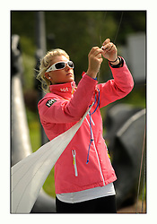 470 Class European Championships Largs - Day 3.Brighter conditions with more wind..Saskia TIDEY, Royal Irish Yacht Club.