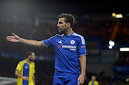 Cesc Fabregas of Chelsea looks on. UEFA Champions League group G match, Chelsea v Maccabi Tel Aviv at Stamford Bridge in London on Wednesday 16th September 2015.<br /> pic by John Patrick Fletcher, Andrew Orchard sports photography.