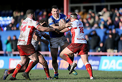 Wakefield Trinity's Keegan Hirst powers on during the Betfred Super League match at Belle Vue, Wakefield.