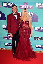 Chloe Ferry and Sam Gowland attending the MTV Europe Music Awards 2017 held at The SSE Arena, London. PRESS ASSOCIATION Photo. Picture date: Sunday November 12, 2017. Photo credit should read: Ian West/PA Wire