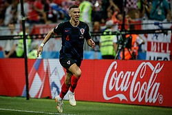 July 11, 2018 - Moscow, Vazio, Russia - Ivan PERISIC of Croatia scores goal during England-Croatia match valid for the semi-final of the 2018 World Cup, held at the Lujniki Stadium in Moscow, Russia. Croatia wins 2-1. (Credit Image: © Thiago Bernardes/Pacific Press via ZUMA Wire)