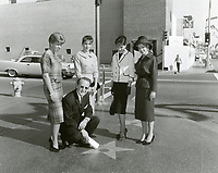 1961 Red Foley with his star on the Hollywood Walk of Fame