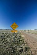 Unfenced Road in Rural Australia