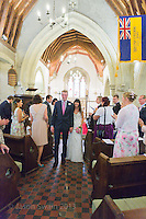 The Wedding of Anna and Dave ar St. Andrew's Church, Chale, Isle of Wight.