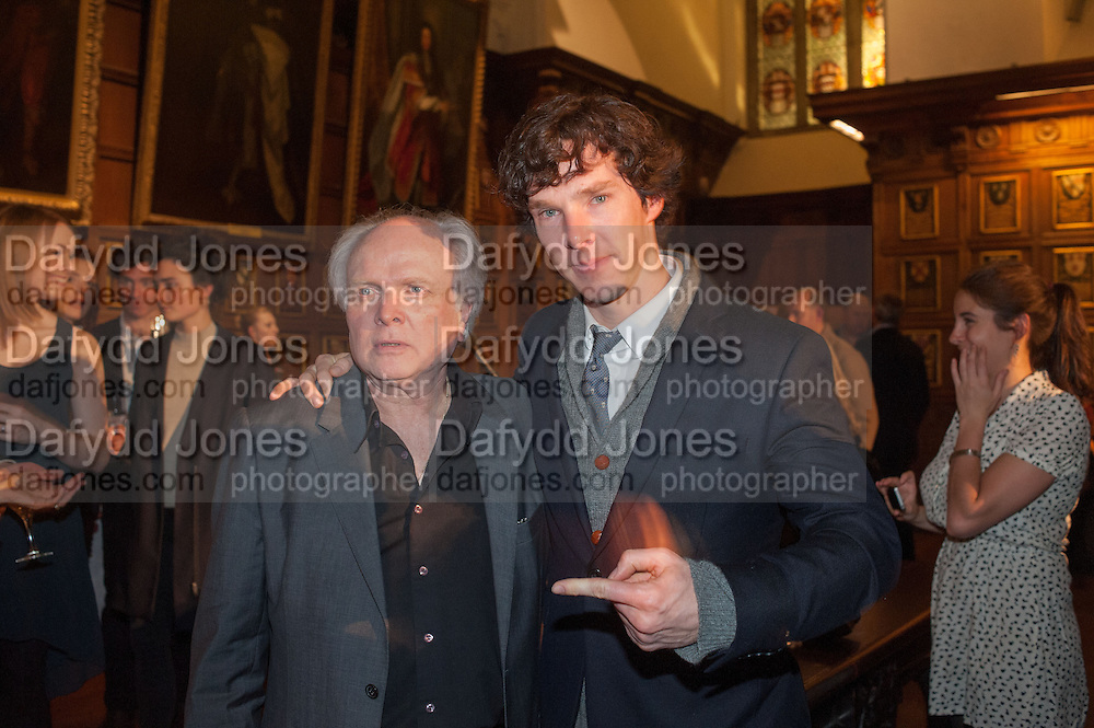 MIKE ATTENBOROUGH; ; BENEDICT CUMBERBATCH;, The Almeida Theatre  celebrates Mike Attenborough's 11 brilliant years as Artistic Director. Middle Temple Hall,<br /> Middle Temple Lane, London, EC4Y 9AT
