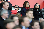 Cardiff city owner Vincent Tan © looks on before the match.Barclays Premier league, Cardiff city v Southampton at the Cardiff city Stadium in Cardiff,  South Wales on Boxing day, Thursday 26th Dec 2013. <br /> pic by Andrew Orchard, Andrew Orchard sports photography.