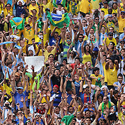Brazilian fans perform the Mexican wave during the Brazil V Argentina International Football Friendly match at MetLife Stadium, East Rutherford, New Jersey, USA. 9th June 2012. Photo Tim Clayton