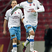 Trabzonspor's Gustavo COLMAN during their Turkish superleague soccer derby match Galatasaray between Trabzonspor at the TT Arena in Istanbul Turkey on Sunday, 10 April 2011. Photo by TURKPIX