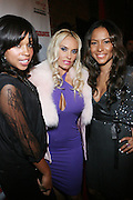 """l to r: Mashonda, Coco, and Valiesha Butterfield at The Russell Simmons and Spike Lee  co-hosted""""I AM C.H.A.N.G.E!"""" Get out the Vote Party presented by The Source Magazine and The HipHop Summit Action Network held at Home on October 30, 2008 in New York City"""