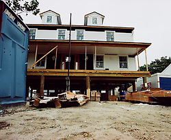 FEMA requires homes to be lifted with a system called cribbing or with pylons before receiving aid. Many home owners chose to demolition their home and start from scratch or participate in the prefabricated home benefit in Ocean City, NJ Field Survey of Post Hurricane Sandy housing efforts. August 2013