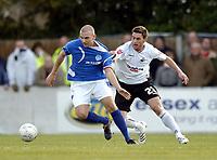 Photo: Olly Greenwood/Sportsbeat Images.<br />Billericay Town v Swansea City. The FA Cup. 10/11/2007. Swansea's Angel Rangel and Billericay's Joe Flack