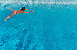 September 7, 2016 - Hanover, Lower Saxony, Germany - A woman swimming in the Lister pool in Hanover, Germany, 7 September 2016. PHOTO: SEBASTIAN GOLLNOW/dpa (Credit Image: © Sebastian Gollnow/DPA via ZUMA Press)