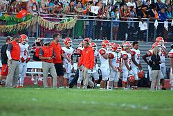 2 September 2016: Normal Community Ironmen at Bloomington Raiders, IHSA Football in Bloomington, Illinois<br /> <br /> #NormalFootball #Ironmen #BHS #Raiders #bestlookmagazine #alphoto513 #IHSA #IHSAFootball
