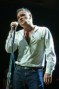 """BETHESDA, MD, DC - January 16th, 2013 - British music legend Morrissey performs at the Strathmore Music Hall. His set included solo hits like """"Everyday Is Sunday"""" as well as material from The Smiths, such as """"Still Ill.""""( Photo by Kyle Gustafson/For The Washington Post)"""
