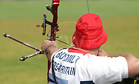 Paralympics London 2012 - ParalympicsGB - Archery Mens Individual Recurve - Standing  30th August 2012<br />   <br /> Phil Bottomley, competing in the mens Archery Individual Recurve - Standing Heats at the Paralympic Games in London. Photo: Richard Washbrooke/ParalympicsGB