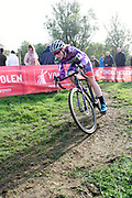 Belgium, November 1 2017:  Natalie Redmond (Aus) Ozriders Cannondale Sram was 21st in the 2017 edition of the Koppenbergcross.  Copyright 2017 Peter Horrell.