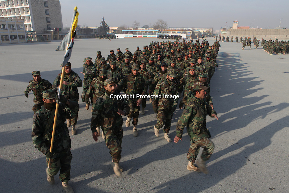 National Afghan Army (ANA) trainingschool in Kabul.