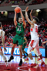 NORMAL, IL - December 16: Jaalam Hill defended by Zach Copeland and Phil Fayne during a college basketball game between the ISU Redbirds and the Cleveland State Vikings on December 16 2018 at Redbird Arena in Normal, IL. (Photo by Alan Look)