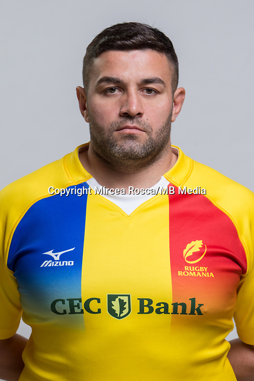 CLUJ-NAPOCA, ROMANIA, FEBRUARY 27: Romania's national rugby player Eugen Capatana pose for a headshot, on February 27, 2018 in Cluj-Napoca, Romania. (Photo by Mircea Rosca/Getty Images)