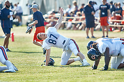 July 28, 2018 - Bourbonnais, IL, U.S. - BOURBONNAIS, IL - JULY 28: Chicago Bears tight end Adam Shaheen (87) participates in drills during the Chicago Bears training camp on July 28, 2018 at Olivet Nazarene University in Bourbonnais, Illinois. (Photo by Robin Alam/Icon Sportswire) (Credit Image: © Robin Alam/Icon SMI via ZUMA Press)
