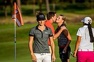 01-09-2016 Golffoto's van het Nationaal Open op de Hilversumsche Golf Club in Hilversum. Finale.  Anne van Dam, Roos Haarman