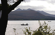 Fishermen makes the most of the fine weather trying to catch brown trout on Lough Lein, Killarney on Sunday. The annual trout fishing season comes to a close on October on October 12th on the lake.<br /> Picture by Don MacMonagle
