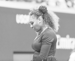 September 4, 2018 - New York, New York, United States - Serena Williams of USA reacts during US Open 2018 quarterfinal match against Karolina Pliskova of Czech Republic at USTA Billie Jean King National Tennis Center (Credit Image: © Lev Radin/Pacific Press via ZUMA Wire)