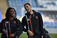 Blackpool players arrive at Fratton Park during the EFL Sky Bet League 1 match between Portsmouth and Blackpool at Fratton Park, Portsmouth, England on 24 February 2018. Picture by Adam Rivers.
