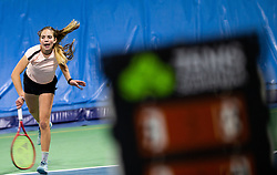 Ana Lanisek in action during Slovenian National Tennis Championship 2019, on December 21, 2019 in Medvode, Slovenia. Photo by Vid Ponikvar/ Sportida