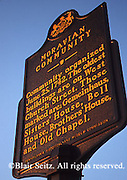 Historic sign, Moravian Community, Bethlehem, PA