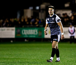 Tiaan Thomas-Wheeler of Ospreys<br /> <br /> Photographer Simon King/Replay Images<br /> <br /> Guinness PRO14 Round 7 - Ospreys v Connacht - Friday 26th October 2018 - The Brewery Field - Bridgend<br /> <br /> World Copyright © Replay Images . All rights reserved. info@replayimages.co.uk - http://replayimages.co.uk